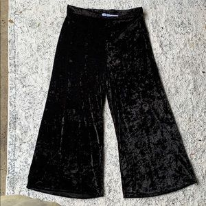 Urban outfitters Crushed velvet bell bottom pants